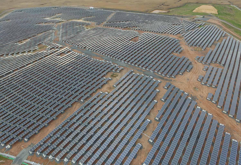 Ballasted solar array in Edison, NJ.