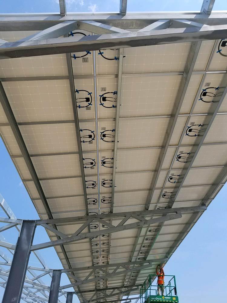 Solar carport photo from Manahawkin, NJ.