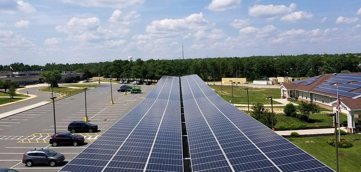 Stafford schools solar carport installation