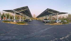 Solar installation in Monmouth Junction, NJ.