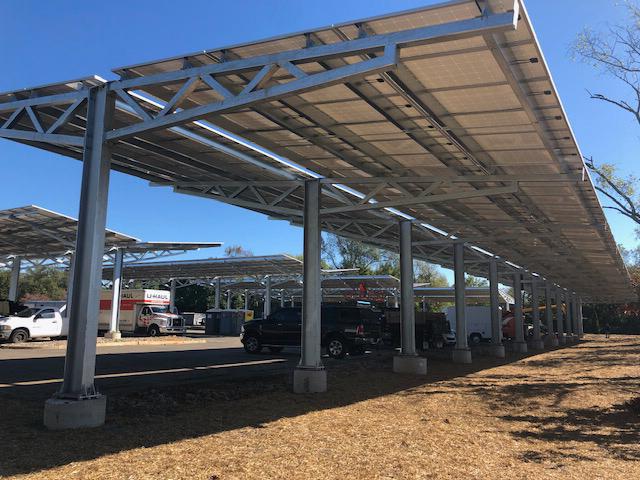 Vineland NJ solar canopy photo