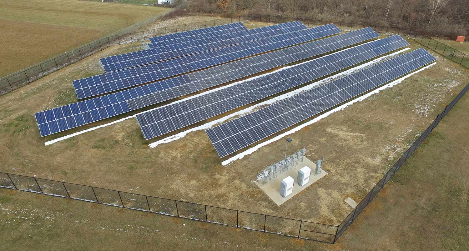 Sandshore elementary school solar array.