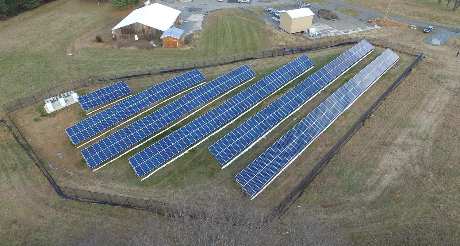 Chester school district solar installation photo.