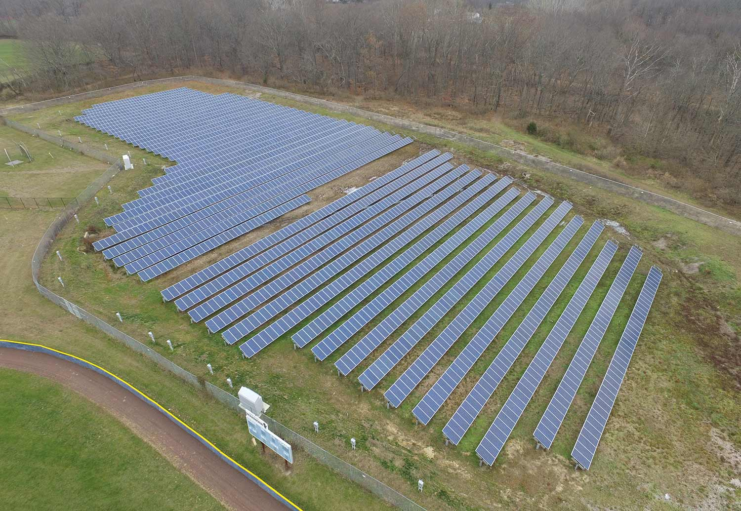 Plumsted township solar ground mount array photo.
