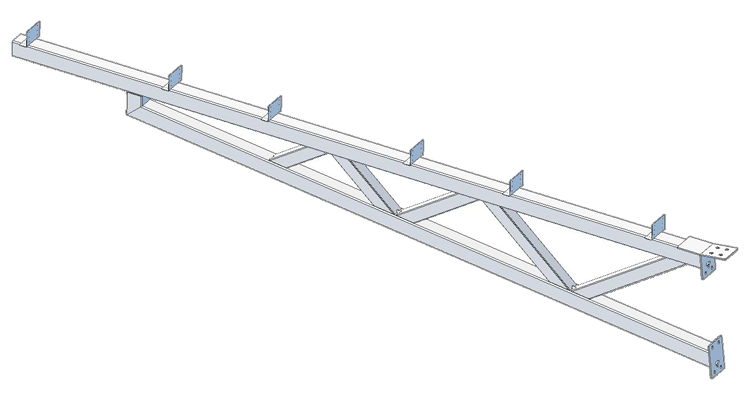 Truss component of solar carport.