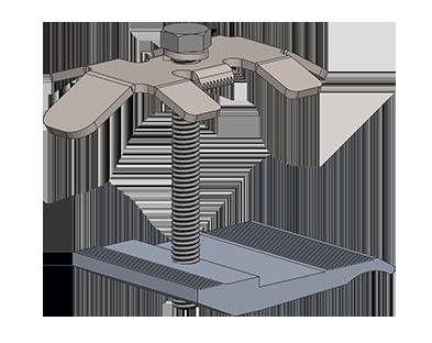 Solar mid clamp image.